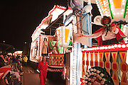 Side view of the rear of Scrooge by Wick CC at Bridgwater Guy Fawkes Carnival 2010.