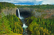 Myrtle River at Helmcken Falls<br /> Wells Gray Provincial Park<br /> British Columbia<br /> Canada