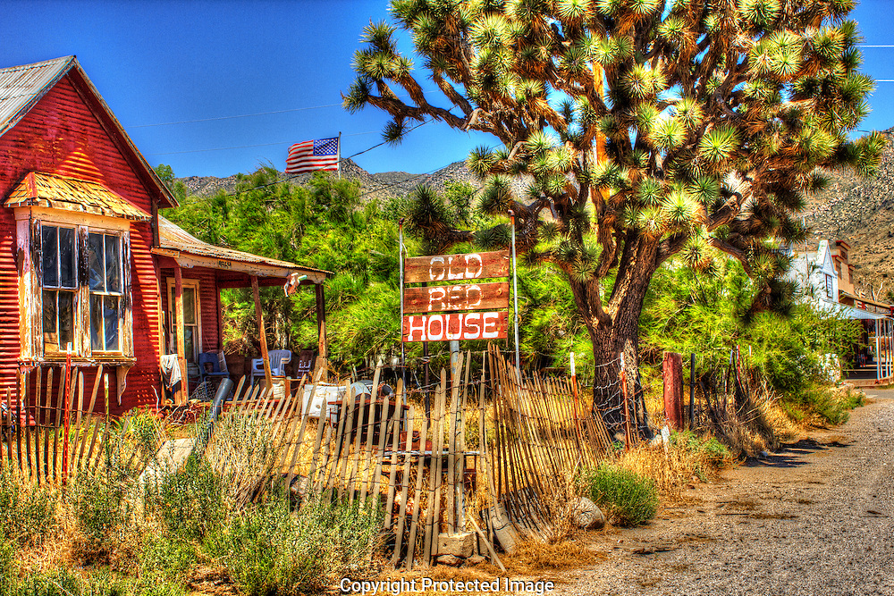 The Old Red House in Chloride, Arizona has a nostalgic look to it.