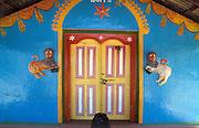 Hindu Temple entrance.
