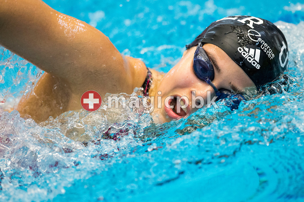 SCUW's Eva GEILENKIRCHEN of SUI competes in the women's 200m Freestyle B-Final during the Swiss Swimming Championships at the Piscine des Vernets in Geneva, Switzerland, Friday, March 24, 2017. (Photo by Patrick B. Kraemer / MAGICPBK)