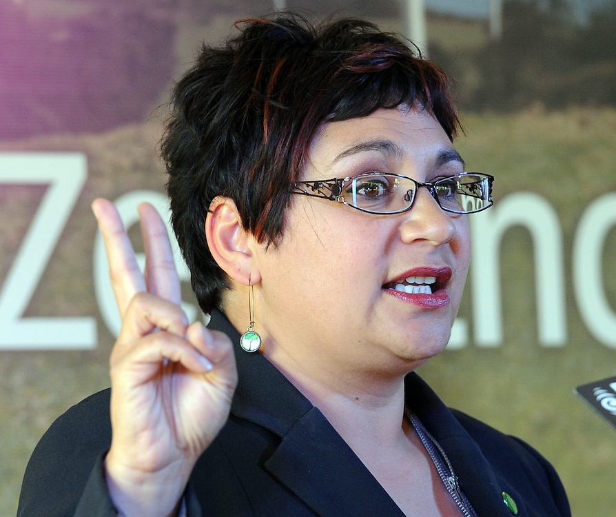 Co-leader Metiria Turei at the Green Party election campaign launch, Wellington, New Zealand, Sunday, November 06, 2011. Credit:SNPA / Ross Setford