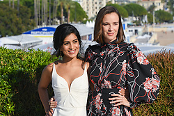 Claire Van Der Boom, Pallavi Sharda pose at the photocall of Pulse during MIPCOM (International Market of Communications Programmes) at Palais des Festivals et des Congres, Cannes<br />