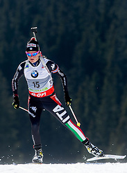 GONTIER Nicole of Italy competes during Women 10 km Pursuit competition of the e.on IBU Biathlon World Cup on Saturday, March 8, 2014 in Pokljuka, Slovenia. Photo by Vid Ponikvar / Sportida