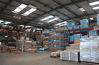 Warehouse in commercial lighting factory