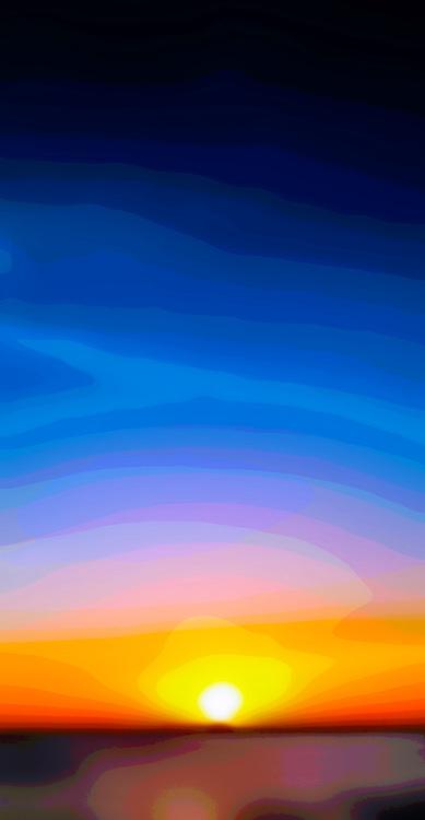 Sea and sky, abstract