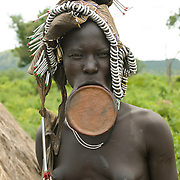Mursi Tribe, Mago National Park, Omo River Valley, South Ethiopia, Africa