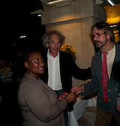 Eric Abraham; Pauline Malefane; Jeremy Irons;  , The opening night of The Mysteries Ð Yiimimangaliso at the Garrick Theatre. Aftershow party in The Crypt, St Martin-in-the-Fields, Trafalgar Square, London. 15 September 2009.<br /> Eric Abraham; Pauline Malefane; Jeremy Irons;  , The opening night of The Mysteries ? Yiimimangaliso at the Garrick Theatre. Aftershow party in The Crypt, St Martin-in-the-Fields, Trafalgar Square, London. 15 September 2009.