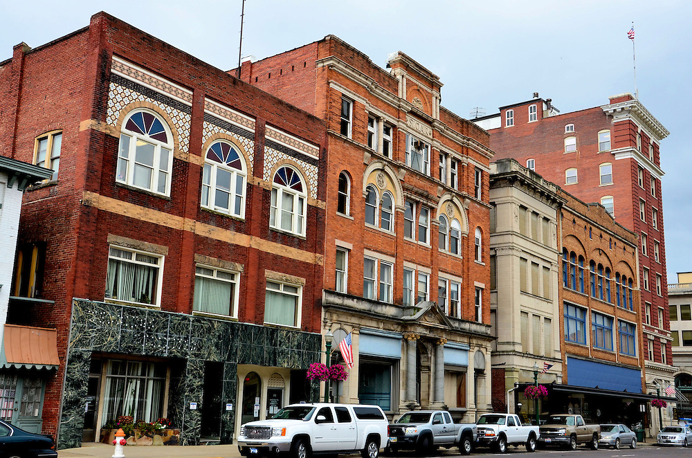 Third Street of Downtown Marietta, Ohio<br /> Marietta is a town of about 14,000 people along the western boarder of Ohio just across the Ohio River from West Virginia. Third Street is the heart of their downtown. It is typical of other small U.S. towns that were founded in the 19th century, grew and prospered for decades, slowly lost their significance and then began to decline in income, economic stability and population. Yet Third Street has kept its pride and remains a pleasant place to live as do so many other small towns in the country&rsquo;s heartland.