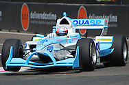 DURBAN, South Africa, Narain Karthikeyan of Team India bouncing thru the chicane and clocking 1:19.580 for 8th position during the Friday practice sessions held as part of the A1GP race weekend in Durban, South Africa on Friday 22 February 2008. SportsPics/SPORTZPICS