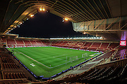 General view of the Riverside Stadium before the Sky Bet Championship match between Middlesbrough and Hull City at the Riverside Stadium, Middlesbrough, England on 18 March 2016. Photo by Mark P Doherty.