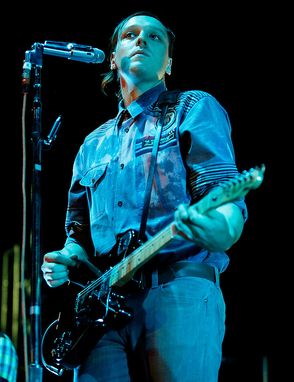 NEW YORK - AUGUST 04:  Singer Win Butler of Arcade Fire performs in concert at Madison Square Garden on August 4, 2010 in New York City.  (Photo by Joe Kohen/WireImage for New York Post)