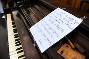 A discarded piano in the debris of Hurricane Sandy, Broad Channel, Queens, N.Y., Nov. 3, 2012.