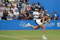 June 22, 2017 - Birmingham, England - GARBINE MUGURUZA of Spain in her second round match v. A. Riske in the Aegon Classic Birmingham tennis tournament. (Credit Image: © Christopher Levy via ZUMA Wire)