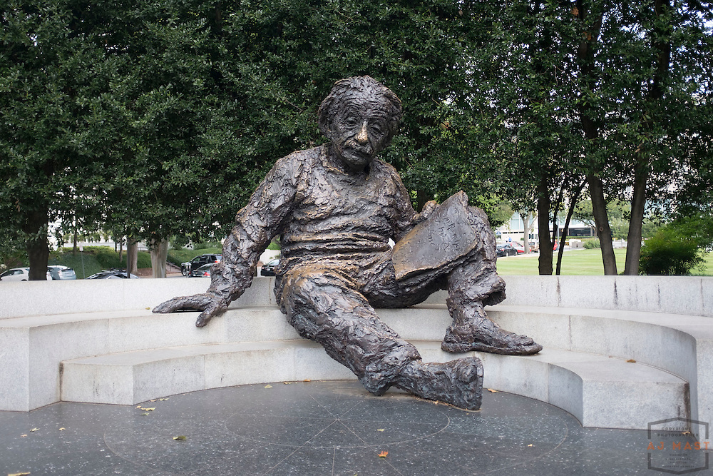 A statue of Albert Einstein outside the National Academies of Science in Washington, D.C., Monday, Aug. 31, 2015. (AJ Mast )