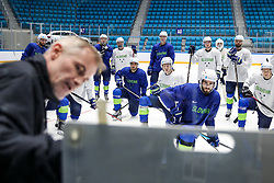 Ivo Jan (head coach) with instructions for the players at ice hockey practice one day before at IIHF World Championship DIV. I Group A Kazakhstan 2019, on April 28, 2019 in Barys Arena, Nur-Sultan, Kazakhstan. Photo by Matic Klansek Velej / Sportida
