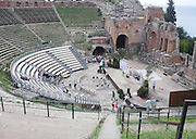 Ruins of the Greek Theatre (Teatro Greco), Taormina, Sicily