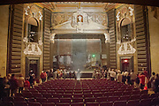 Locales get a first hand look at the Fox Fullerton Theater restoration effort.