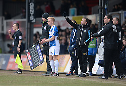 Ryan Broom of Bristol Rovers prepares to come on the pitch.- Mandatory byline: Alex James/JMP - 19/03/2016 - FOOTBALL - Rodney Parade - Newport, England - Newport County v Bristol Rovers - Sky Bet League Two