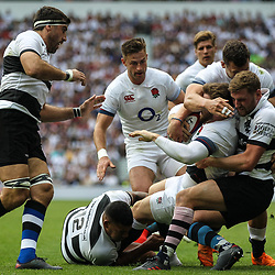 Elliot Day of England scores his teams first try