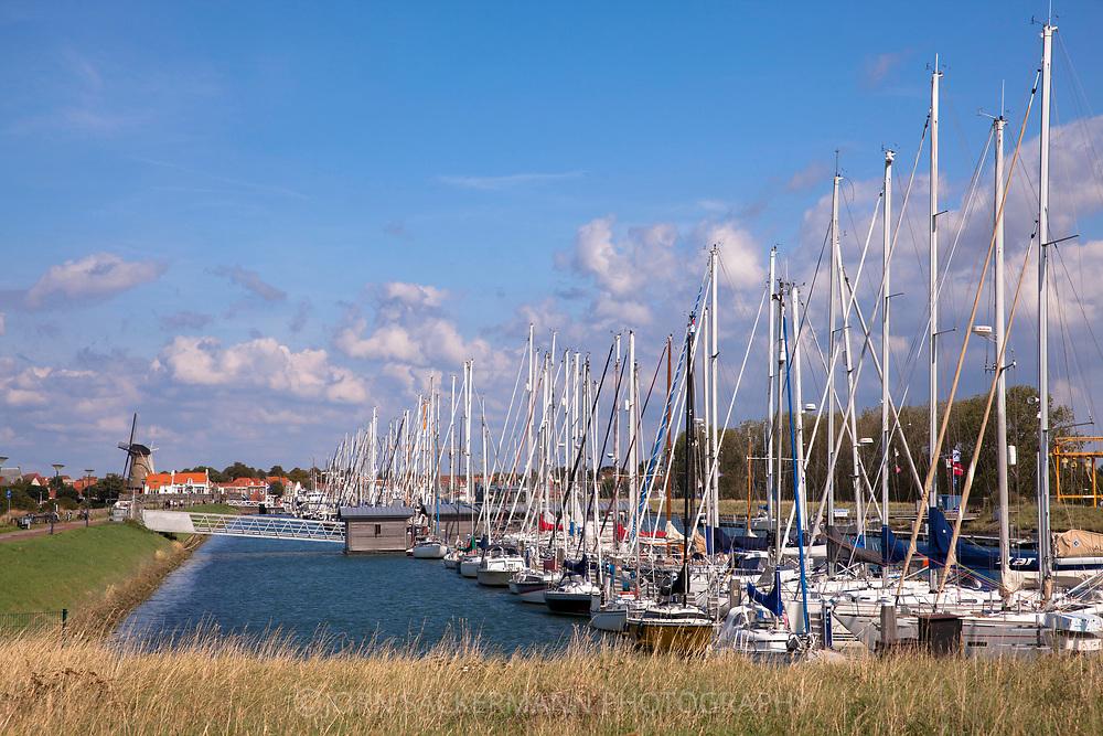 marina in Zierikzee on the peninsula Schouwen-Duiveland, Zeeland, Netherlands.<br /> <br /> Yachthafen in Zierikzee auf Schouwen-Duiveland, Zeeland, Niederlande.