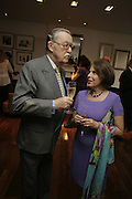 Mr. and Mrs. Alan Whicker. TARYN ROSE cocktail preview at Morton's Club Room hosted by Taryn Rose and Anne Crossland. Mortons. London. 11 September 2006. ONE TIME USE ONLY - DO NOT ARCHIVE  © Copyright Photograph by Dafydd Jones 66 Stockwell Park Rd. London SW9 0DA Tel 020 7733 0108 www.dafjones.com