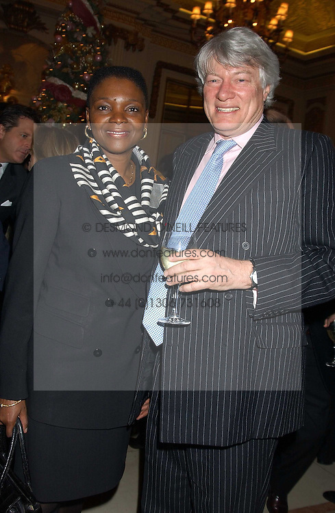 BARONESS AMOS and MR GEOFFREY ROBERTSON QC at The Business Winter Party hosted by Andrew Neil at The Ritz Hotel, Piccadilly, London on 7th December 2005.<br /><br />NON EXCLUSIVE - WORLD RIGHTS