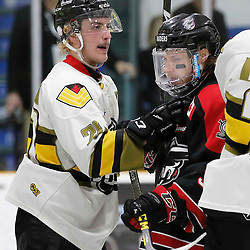 TRENTON, ON  - MAY 5,  2017: Canadian Junior Hockey League, Central Canadian Jr. &quot;A&quot; Championship. The Dudley Hewitt Cup. Game 7 between The Georgetown Raiders and The Powassan Voodoos. Dayton Murray #20 of the Powassan Voodoos during the second period <br /> (Photo by Amy Deroche / OJHL Images)