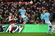 Kyle Walker (2) of Manchester City heads the ball during the EFL Cup Final match between Arsenal and Manchester City at Wembley Stadium, London, England on 25 February 2018. Picture by Graham Hunt.