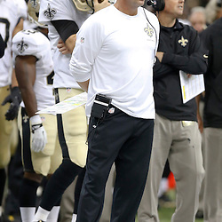Sep 22, 2013; New Orleans, LA, USA; New Orleans Saints head coach Sean Payton against the Arizona Cardinals during the second half of a game at Mercedes-Benz Superdome. The Saints defeated the Cardinals 31-7. Mandatory Credit: Derick E. Hingle-USA TODAY Sports