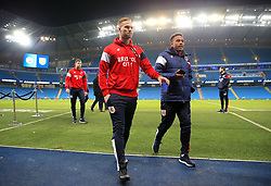 Gustav Engvall of Bristol City and Niclas Eliasson of Bristol City take a trip around the Etihad Stadium  - Mandatory by-line: Matt McNulty/JMP - 09/01/2018 - FOOTBALL - Etihad Stadium - Manchester, England - Manchester City v Bristol City - Carabao Cup Semi-Final First Leg