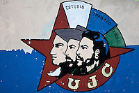 """""""Estudio, Trabajo, Fusil"""" meaning """"study, work. rifle"""" is the revolutionary message of the Cuban education system."""