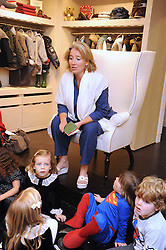 EMMA THOMPSON reading to children at a party to celebrate the opening of Pincess Marie-Chantal of Greece's store 'Marie-Chantal' 133A Sloane Street, London on 14th October 2008.