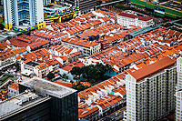 An aerial view of Chinatown in Singapore.