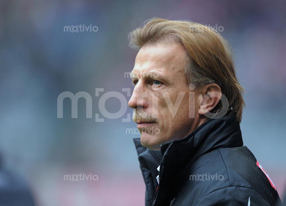 Fussball   1.Bundesliga 2008/2009  21.02.2009    21. Spieltag FC Bayern Muenchen  -  1. FC Koeln 1.FC Koeln Trainer Christoph Daum