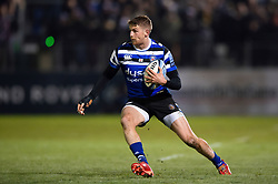 Ruaridh McConnochie of Bath Rugby in possession - Mandatory byline: Patrick Khachfe/JMP - 07966 386802 - 29/11/2019 - RUGBY UNION - The Recreation Ground - Bath, England - Bath Rugby v Saracens - Gallagher Premiership