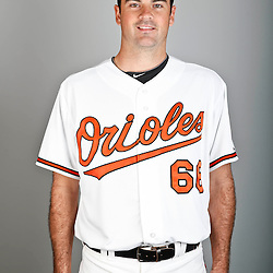 Feb 22, 2013; Sarasota, FL, USA; Baltimore Orioles starting pitcher T.J. McFarland (66) at the Orioles clubhouse. Mandatory Credit: Derick E. Hingle-USA TODAY Sports