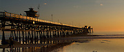 San Clemente Pier at Sunset in Orange County