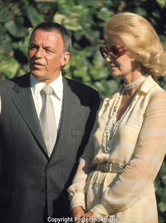 Frank Sinatra and wife, Barbara Marx..Photograph by Dennis Brack bb30