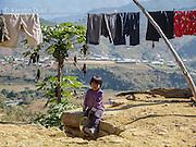 Chin refugee child in Mizoram, overlooking the Burmese border