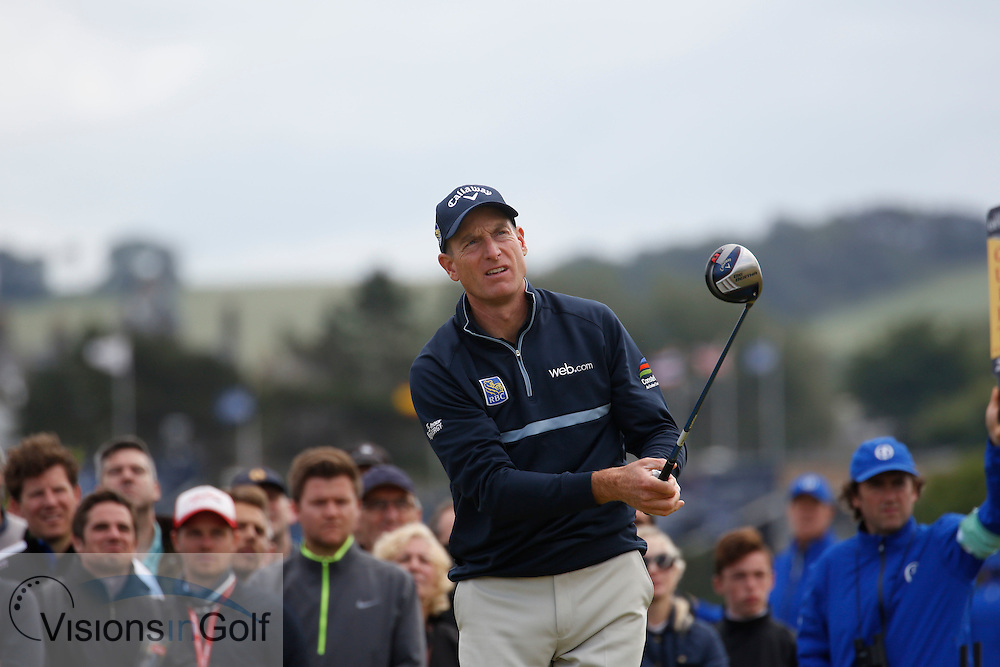 Jim Furyk<br /> on the second day<br /> at the The Open Championship, St Andrews, Scotland  July 2015<br /> Picture Credit:  Mark Newcombe / visionsingolf.com