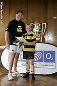 Wasps CoachClass at Aylesbury RFC. 29-8-08. Presentations and Pics with Joe Ward and Cup