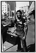 Black male holding a Boombox, San Francisco,  USA, 1980