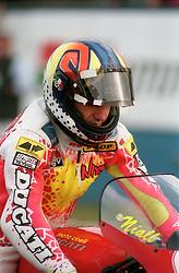 NIALL MACKENZIE DUCATI, WSB World Superbike Championship Donington Park 3rd October 1993SB DONINGTON 3/10/93