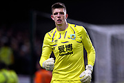 Burnley goalkeeper Nick Pope (1) during the Premier League match between Burnley and Manchester United at Turf Moor, Burnley, England on 28 December 2019.