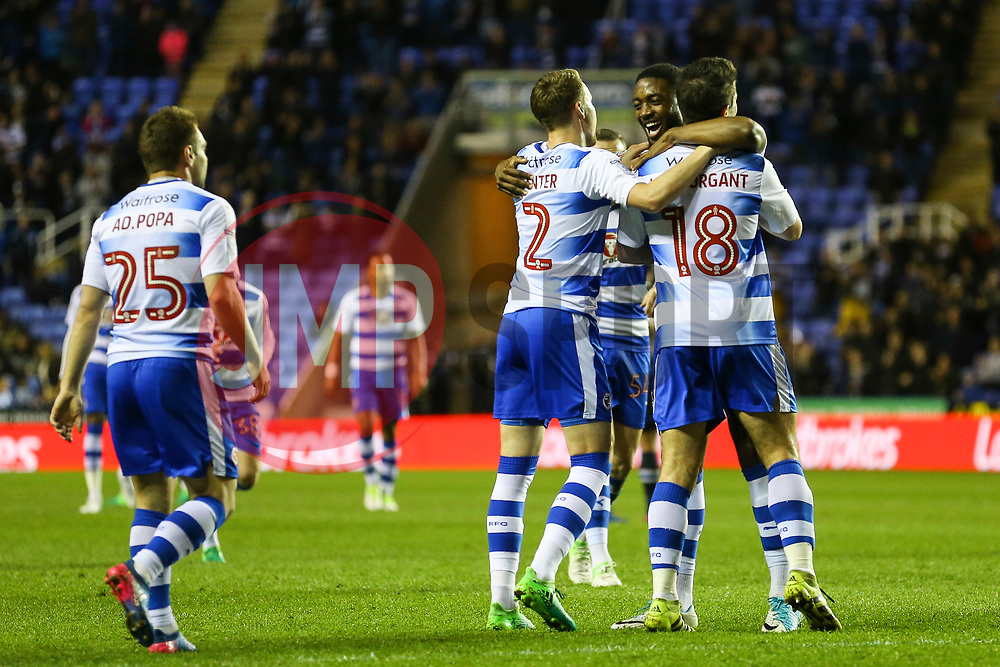 Goal, Yann Kermorgant of Reading scores, Reading 1-0 Blackburn Rovers - Mandatory by-line: Jason Brown/JMP - 04/04/2017 - FOOTBALL - Madejski Stadium - Reading, England - Reading v Blackburn Rovers - Sky Bet Championship