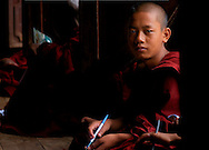 Monk at classroom