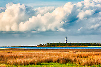 Afternoon clouds forming over Cape Lookout Lighthouse on the Core Banksof NC.