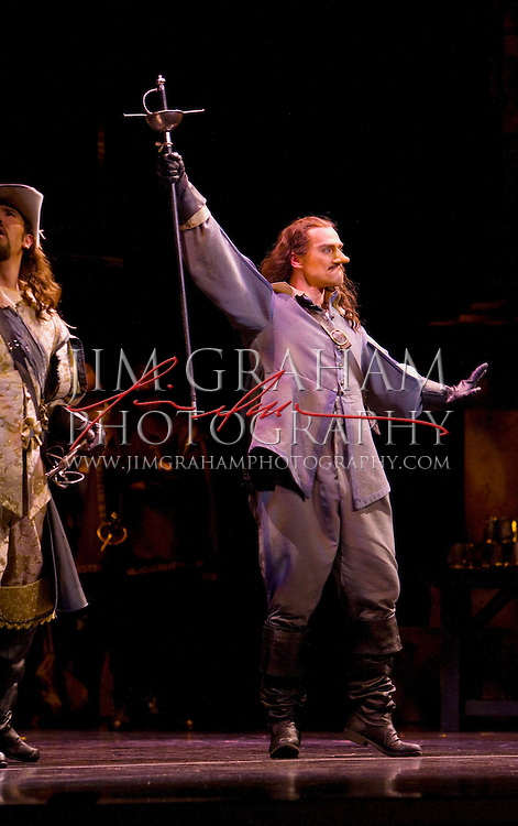 """Marion Pop as Cyrano in David DiChiera's production of  """"Cyrano"""" at Wednesday evening's preformance of the opera in Philadelphia, Pa., 13 Feb. 2008. (Photograph by Jim Graham )"""