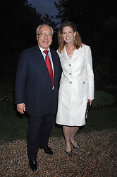 MR & MRS URS SCHWARZENBACH he is the multi millionaire polo patron at the annual Cartier Chelsea Flower Show dinner held at the Chelsea Physic Garden, London on 21st May 2007.<br /><br />NON EXCLUSIVE - WORLD RIGHTS